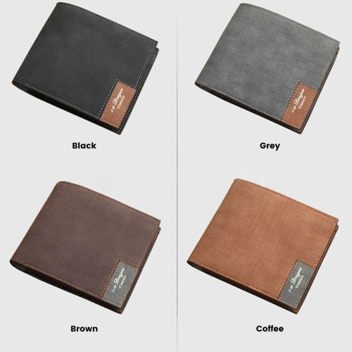 Men's Personalized Photo Engraved Wallet(Coffee)(Model1712)