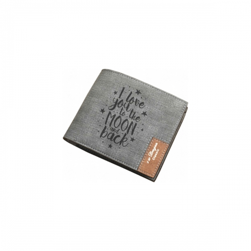 Men's Personalized Photo Engraved Wallet(Grey)(Model1712)