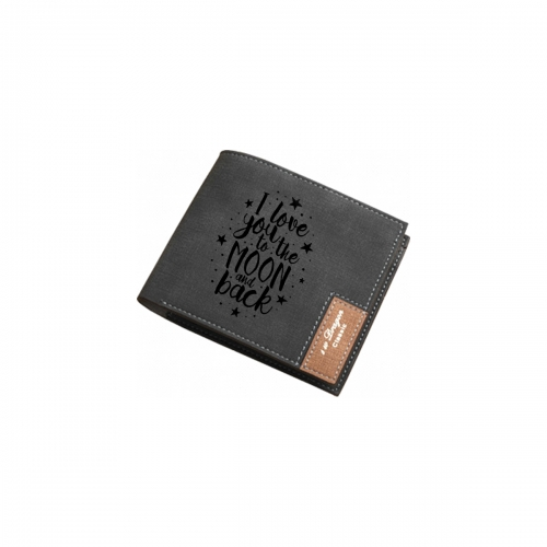 Men's Personalized Photo Engraved Wallet(Black)(Model1712)