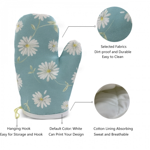 Heat Resistant Oven Mitts(Two Pieces)