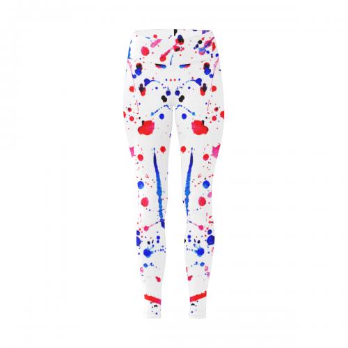 Women's Workout Leggings(Large Size)(ModelL43)