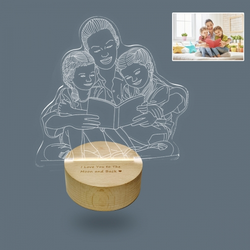 Personalized Photo 3D Lamp(Round Base)