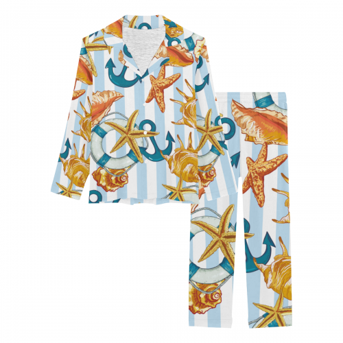 Women's Long Pajama Set(ModelSets 02)