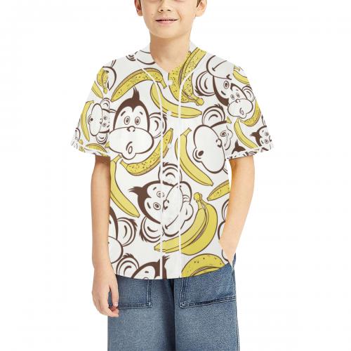Kid's All Over Print Baseball Jersey(ModelT50)