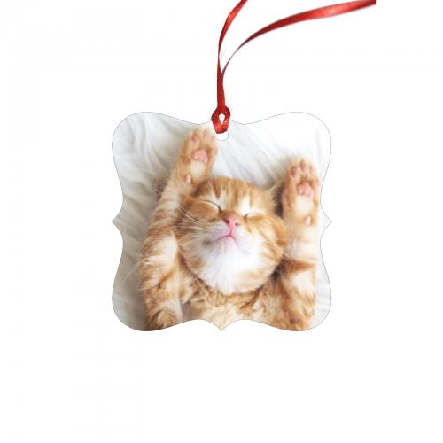 Personalized Square Ornament(One Piece)