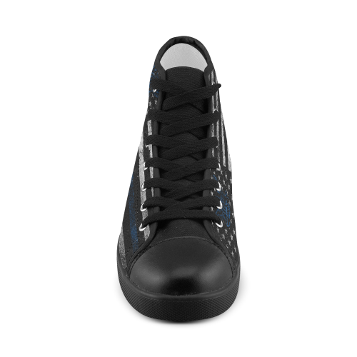 High Top Canvas Men's Shoes (Model 002)