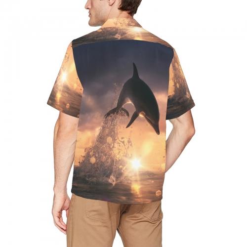 Men's All Over Print Hawaiian Shirt With Chest Pocket(ModelT58)