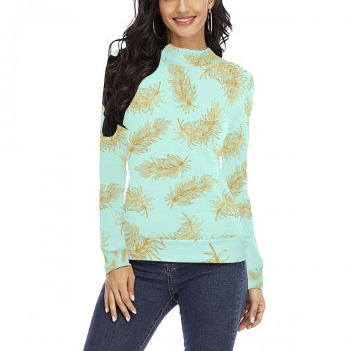 Women's All Over Print Mock Neck Sweater(ModelH43)