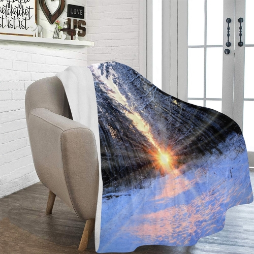 "Ultra-Soft Micro Fleece Blanket 60"" x 80""(Made In USA)"