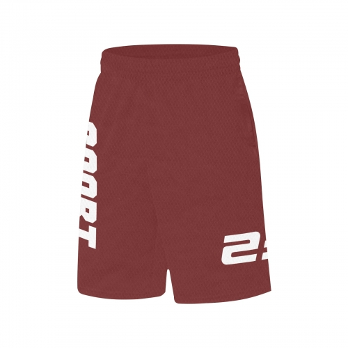 All Over Print Basketball Shorts With Pockets