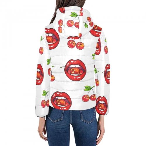 Women's Padded Hooded Jacket (ModelH46)