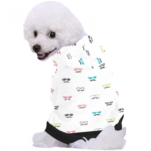 All Over Print Pet Dog Fuzzy Hoodie