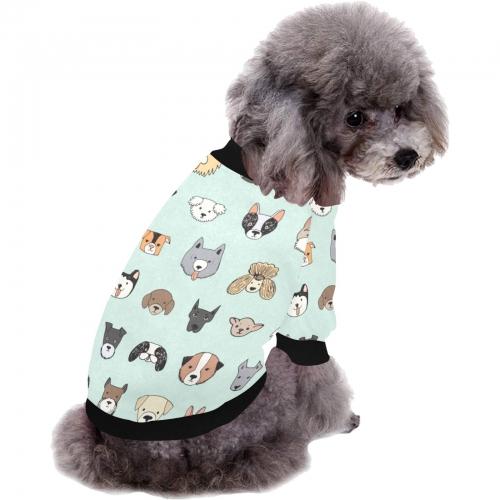 All Over Print Pet Dog Round Neck Fuzzy Shirt