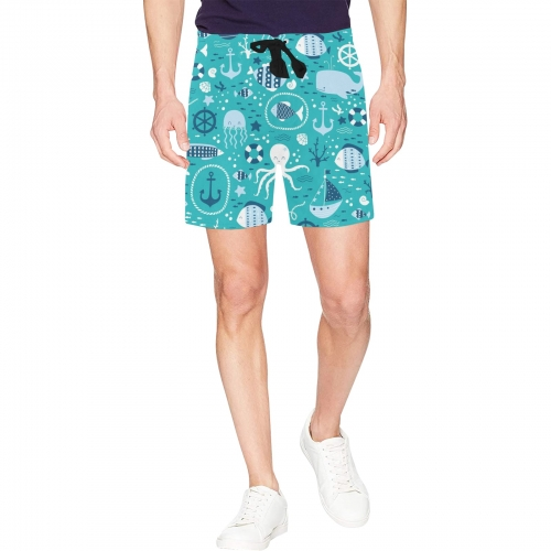 Men's Mid-Length Beach Shorts (ModelL47)