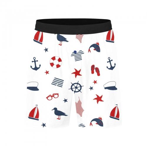 Men's Mid-Length Pajama Shorts (ModelL46)