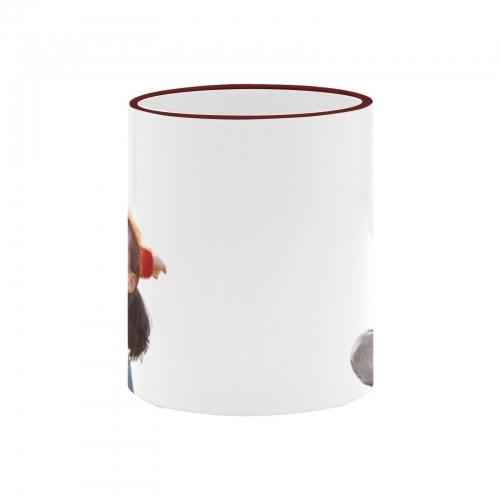 Custom Ceramic Mug With Colored Rim and Handle(11oz)