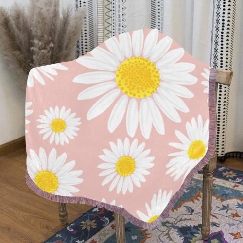 "Ultra-Soft Mixed Pink Fringe Blanket 40""x50"""