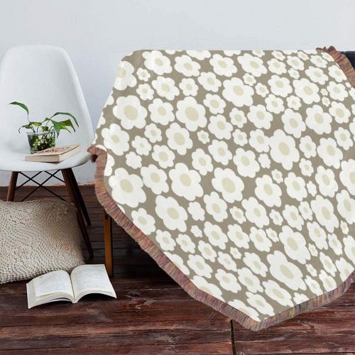 "Ultra-Soft Mixed Green Fringe Blanket 50""x60"""