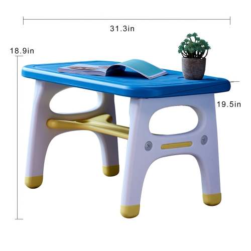 The set of the dinosaur modeling table and shair for children