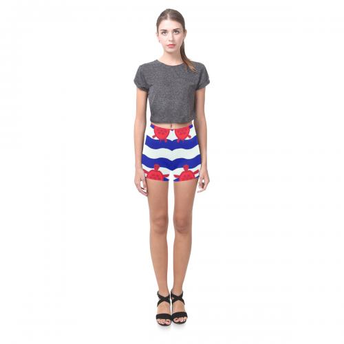 All-Over Skinny Shorts (Model L04)