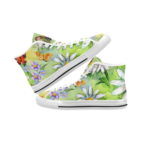 Vancouver High Top Canvas Women's Shoes (Model1013-1)