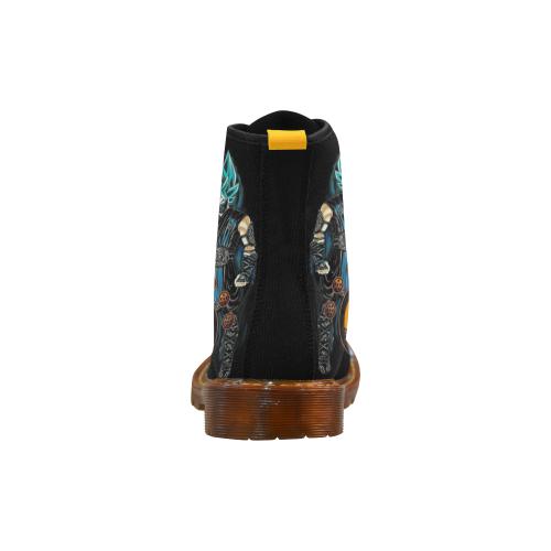 Men's Lace Up Canvas Boots (Model 1203H)