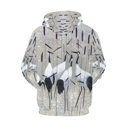 Women's All Over Print Hoodie (USA Size) (Model H13)