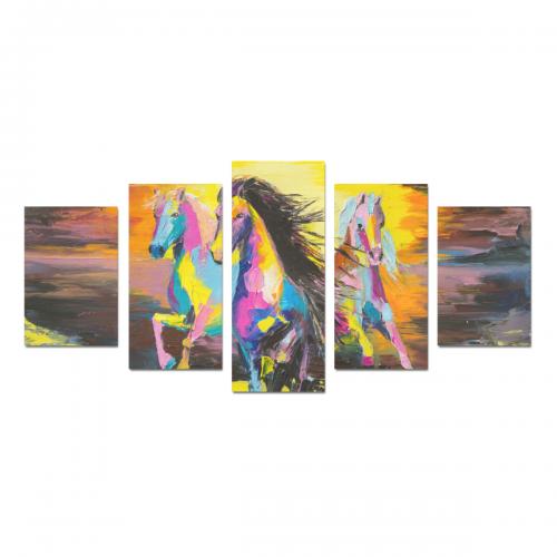Canvas Wall Art Prints (No Frame) 5-Pieces/Set D