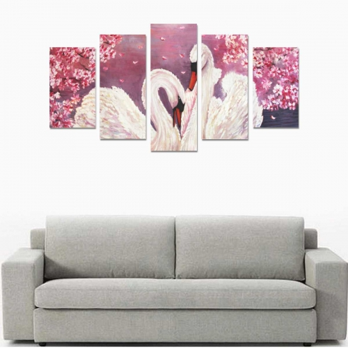 Canvas Wall Art Prints (No Frame) 5-Pieces/Set A