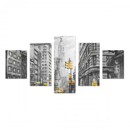 Canvas Wall Art Prints (No Frame) 5-Pieces/Set B
