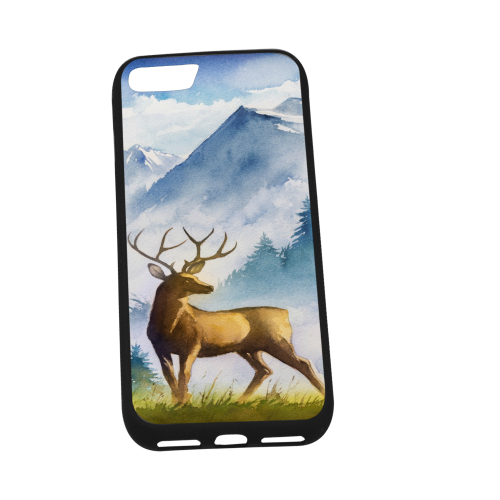 """Rubber Case for Iphone 8 (4.7"""") (Trapezoidal hole)"""