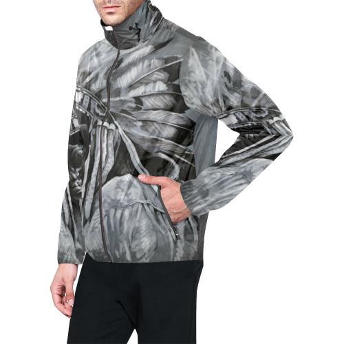 Unisex All Over Print  Hooded Windbreaker (Model H23)