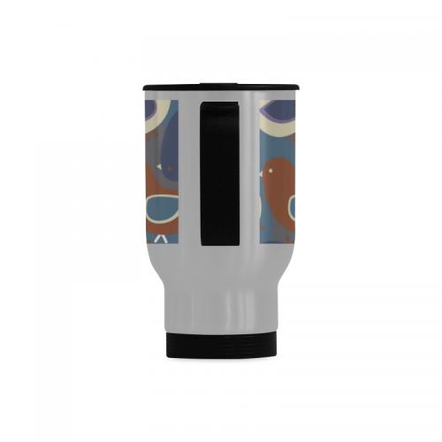 Travel Mug (Silver, 14OZ) ( Made In USA)