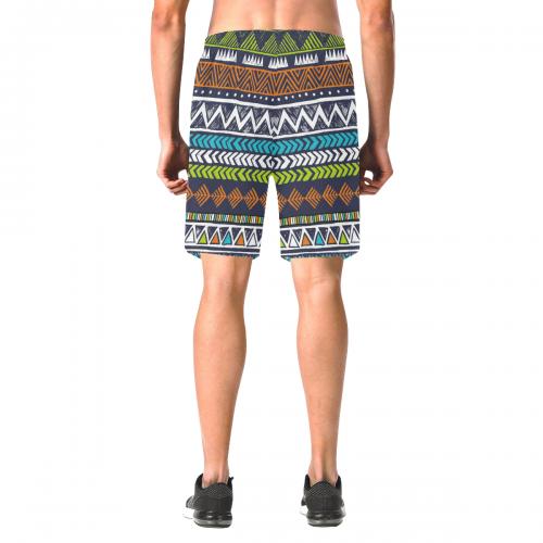 Men's All Over Print Elastic Beach Shorts (Model L20)