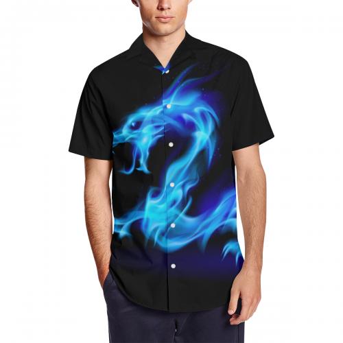 Men's Short Sleeve Shirt With Lapel Collar (Model T54)