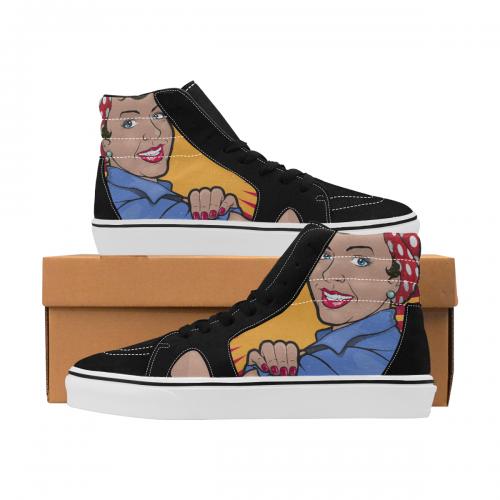 Women's High Top Canvas Shoes (Model E001-1)