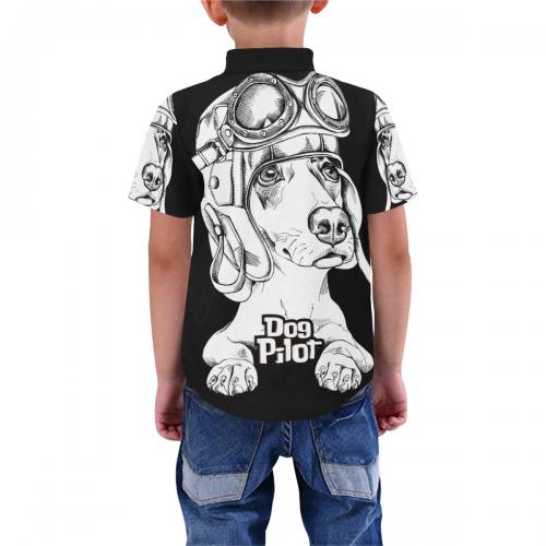 Kid's All Over Print Short Sleeve Shirt (Model T59)
