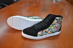 Capricornus High Top Splicing Canvas Women's Shoes (Model 037)