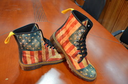 Women's Lace Up Canvas Boots (Model1203H)