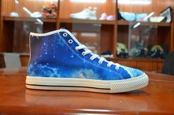 Vancouver High Top Canvas Men's Shoes (Model1013-1)