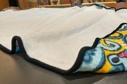 "Flannel Hooded Blanket 50""x60"""